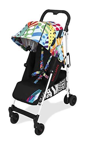 Maclaren Quest arc Silla de paseo – ligero, manillar unido, para recién nacidos hasta los 25kg, Asiento multiposición, suspensión en las 4 ruedas, Multicolor