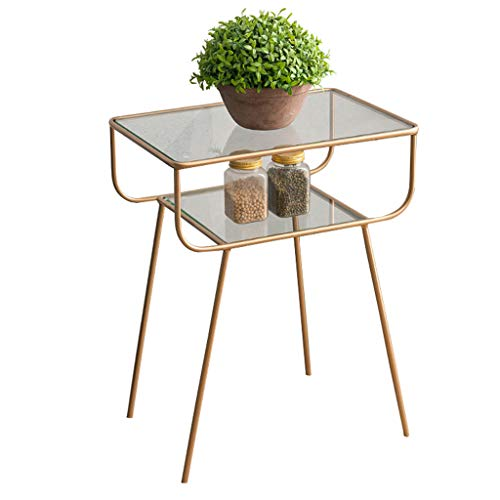 Coffee Tables JCOCO Nordic Wrought Iron Modern Creative Living Room Simple Sofa Side Table Bedside Table Small Side Table (Color : Gold)
