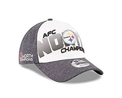 Pittsburgh Steelers New Era 2017 AFC North Division Champions 9FORTY Adjustable Hat – Gray by New Era