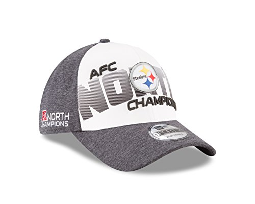 Pittsburgh Steelers New Era 2017 AFC North Division Champions 9FORTY Adjustable Hat – Gray