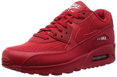 Nike Air Max 90 Essential (12 D(M) US, University Red/White) (Shoes Red Nike)
