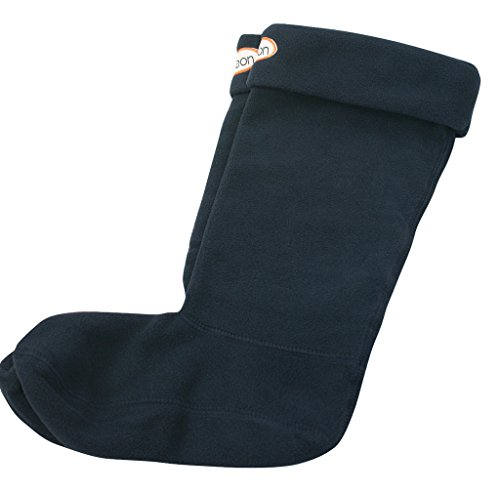 Jileon Women and Men Warm, Cozy & Soft Winter Blue Fleece Rainboots (Blue Fleece Winter Boots)