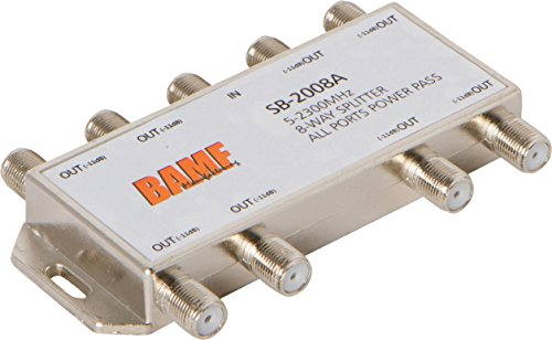 BAMF 8-Way Coax Cable Splitter Bi-Directional MoCA -