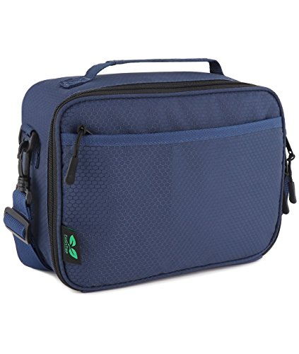 F40C4TMP Small Insulated Lunch Bag for Work Mini Lunch Box Bag with Shoulder Strap for Teens Men Women(Blue ()