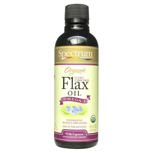 Spectrum Essentials Organic Flax Oil Ultra Enriched, 16 Fluid Ounce