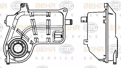 Audi Expansion Tank - HELLA Coolant Expansion Tank Fits AUDI A6 Avant Allroad 4B C5 8E0121403D