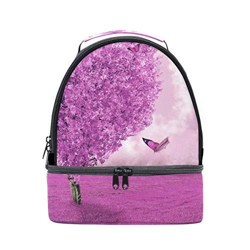 correa corazón para el campo Bolso mariposas con hombro abstracto y de almuerzo el para ajustable de sobre picnic forma doble nOWBAnaq