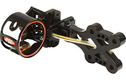 PSE Archery XForce Strider Bow Sight, 5 Pin, 0.19, Right or Left Hand, Black