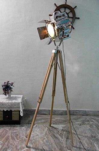 Thor Nautical 1950's Hollywood Studio Vintage Design Industrial Tripod Floor Lamp by THORINSTRUMENTS