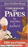 Chronologie des papes par Mathieu-Rosay