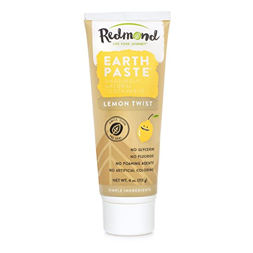 (Redmond Earthpaste - Natural Non-Flouride Toothpaste, LemonTwist, 4 Ounce Tube (2 Pack))