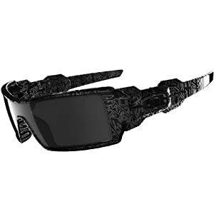 Oakley Oil Rig - Polished Black / Ghost Text
