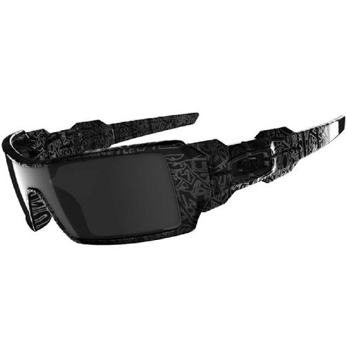 Oakley Oil Rig - Polished Black / Ghost - Oakley Oil Rigs