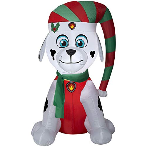 Gemmy Airblown Christmas Indoor/Outdoor PAW Patrol Marshall 4.5' Inflatable Holiday Decoratiom - Gemmy Airblown Inflatable