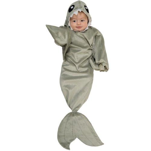 Bunting Costume Baby Shark - Rubie's Shark Bunting Newborn 0-9 Months Costume 885395