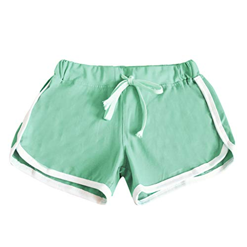 iHPH7 Hot Pants Active Bike Running Yoga Shorts Series Women Sports Shorts Casual Ladies Beach Summer Running Yoga (L,Green) ()