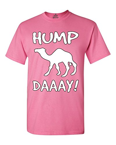 Shop4Ever Camel Commercial Hump Day! T-shirt Funny Shirts Large Azalea Pink 0