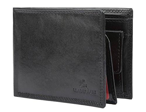 "Leaderachi – 100% Pure Genuine Real Leather Handmade Men Wallet [""HAMILTON"" (BLACK)]"