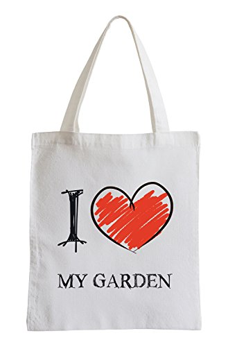 Amo mio giardino Divertimento sacchetto di iuta