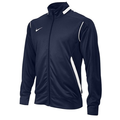 NIKE Men's Enforcer Warm-Up Jacket (Medium, Navy/White)