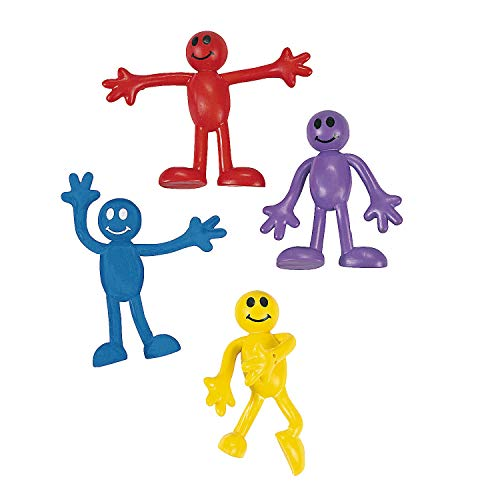 """Fun Express - Mini 2"""" Smile Face Bendables - Toys - Character Toys - Bendables - 48 Pieces"""