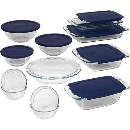 Non-Porous Glass Easy Grab Bakeware 19-Piece Set Pyrex