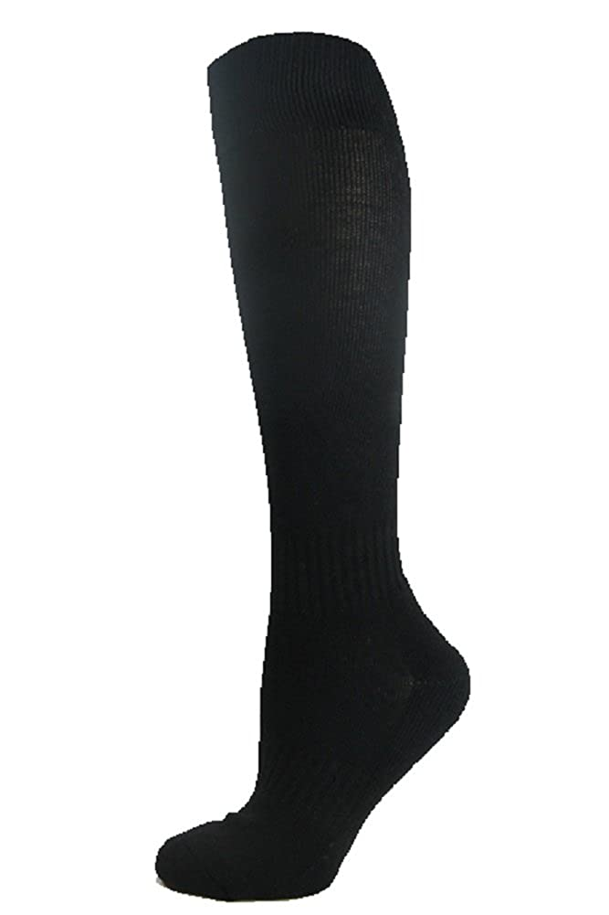 7d8dc5ab2 Amazon.com  SockTower Men s Women Sports Athletic Cushion Crew Team Field  Baseball Softball Cotton Terry Plain Knee High Socks  Clothing