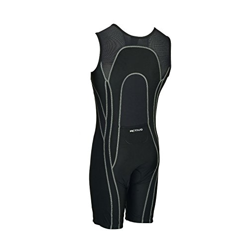 Triathlon Homme Grey Activo Biathlon Swim Noir Pied Tri Black De À Tritard Rembourré Pour Cyclisme Stitch Course Fddwqt