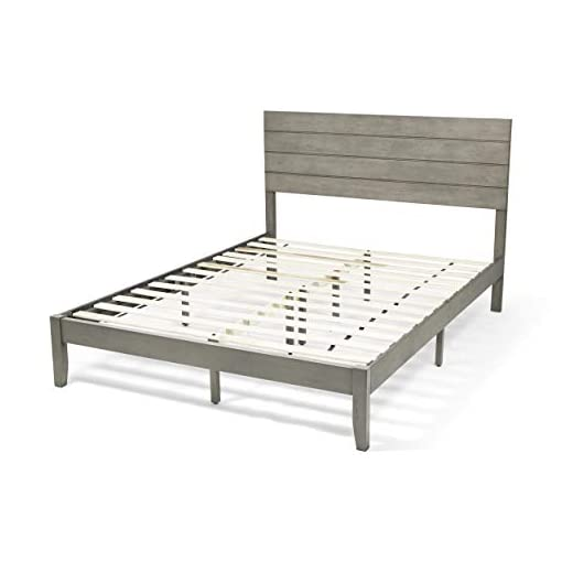 Bedroom Apollo Queen Size Bed with Headboard, Natural and Gray Finish farmhouse beds and bed frames