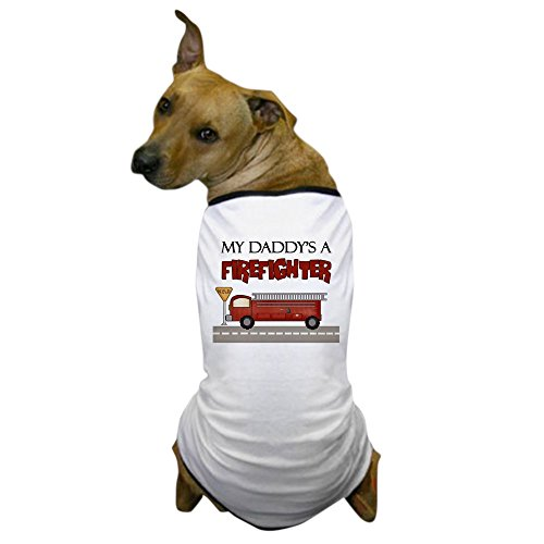 CafePress - Daddys A Firefighter - Dog T-Shirt, Pet Clothing, Funny Dog Costume (Dog Firefighter Costume)