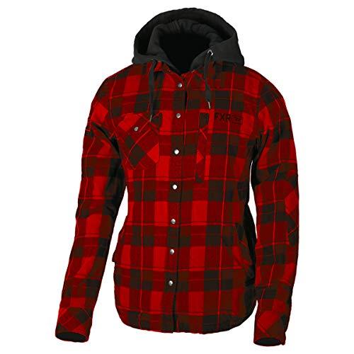 FXR Womens Timber Plaid Insulated Jacket (Maroon/Black, Medium)