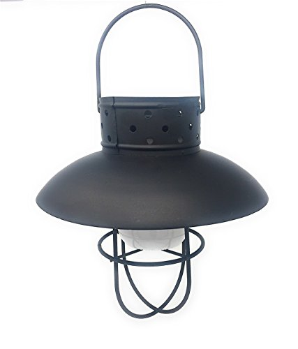 Solar Powered Landscape Garden Industrial Design Hanging Light (Black)