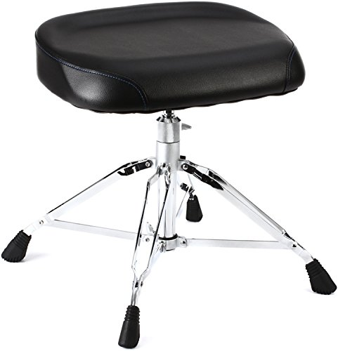 (Yamaha DS-950 Drum Throne - Heavy Weight, Double-Braced; Quad Legs, Bench-Style Seat)