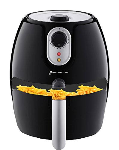 GForce Electric Convection Air Fryer - 2.75 Quart- Healthy Oil Free Cooker/Oven with Temperature Control and Timer- Non Stick Fry Basket-Dishwasher Safe