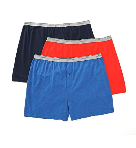 Fruit of the Loom Men's Big Man Knit Boxers (Pack Of 3), Assorted Solids, 4XB