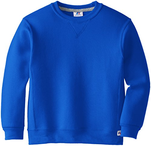 Russell Athletic Big Boys' Fleece Crew, Royal, Small