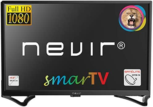 NEVIR NVR-8050-43FHD2S TELEVISOR 43 FHD SATELITE HDMI USB R Smart TV Android 7.1: BLOCK: Amazon.es: Electrónica