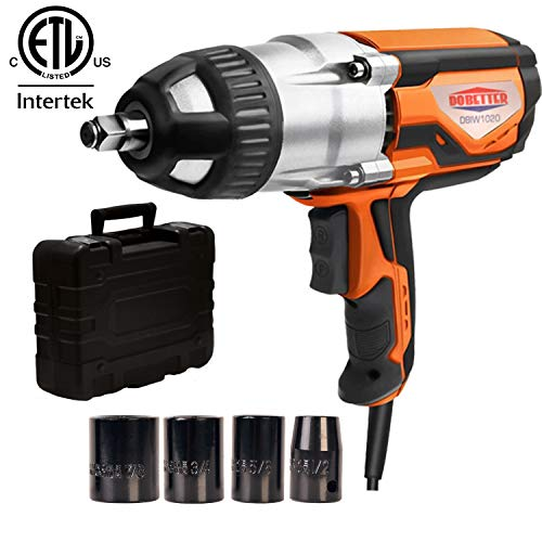 Dobetter Electric Impact Wrench 1/2 Inch Corded Impact Gun with