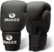 MaxIT Pro Style Boxing Gloves   Padded Odor-Free for Men or Women   Hand Glove Set for MMA, Muay Thai, Sparrin