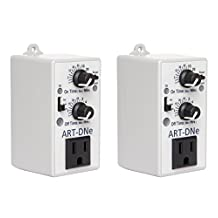 ART-DNE - (2) C.A.P. Hydroponic Day/night Adjustable Recycle Timer Controllers by Cap