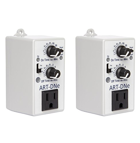 Investment (2) NEW C.A.P. ART-DNE Hydroponic Day/Night Adjustable Recycle Timer Controllers cheapest