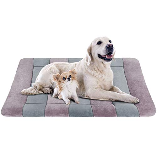 JoicyCo Dog Bed Large Crate Bed Mat 47″ Pet Beds Washable Anti-Slip Bottom Cat Beds Mattress Kennel Pad