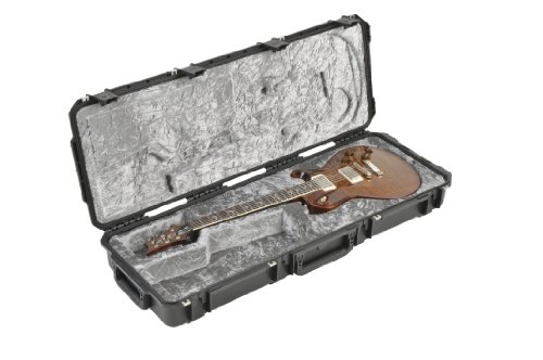 (SKB Injection Molded Guitar Case, PRS Shaped Interior, TSA Latches with wheels (3i-4214-PRS))