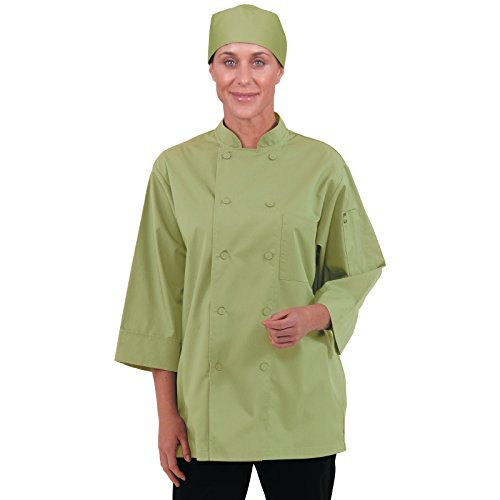 Lime Large Colour by Chef Works B107-L 3//4 Sleeve Jacket