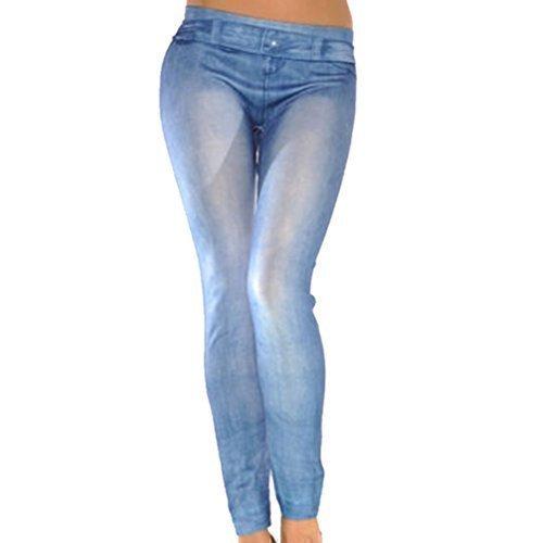 Vaqueros pitillos para mujer, elásticos, color azul, marca Buytra