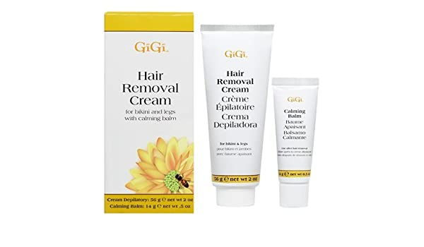 Amazon.com : Gigi Hair Removal Cream W/Balm For Bikini & Legs (Pack of 4) : Beauty