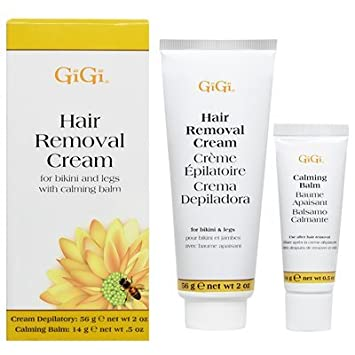 Gigi Hair Removal Cream W/Balm For Bikini & Legs (Pack of ...