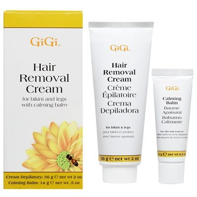 Gigi Hair Removal Cream W/Balm For Bikini & Legs (6 Pack) by