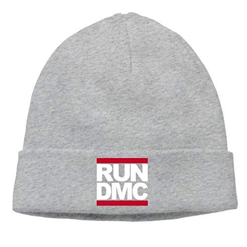 Mens & Womens Run Dmc Skull Beanie Hats Winter Knitted Caps Soft Warm Ski Hat Black ()