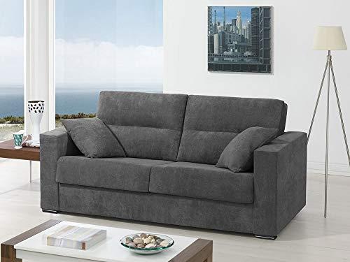 Sofa Cama Italiano - Madrid (Gris, Tela Antimanchas Microfibra)